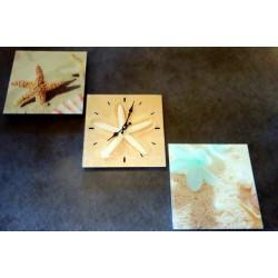 Zegar ścienny tryptyk szklany