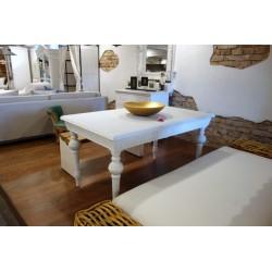 Stół z toczonymi nogami biały