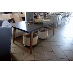 Stół betonowo-drewniany