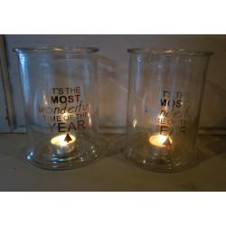 Szklany lampion wazon