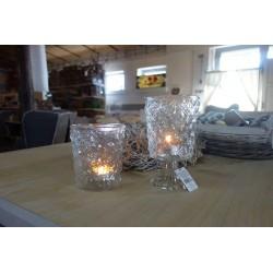 Szklany świecznik 22cm
