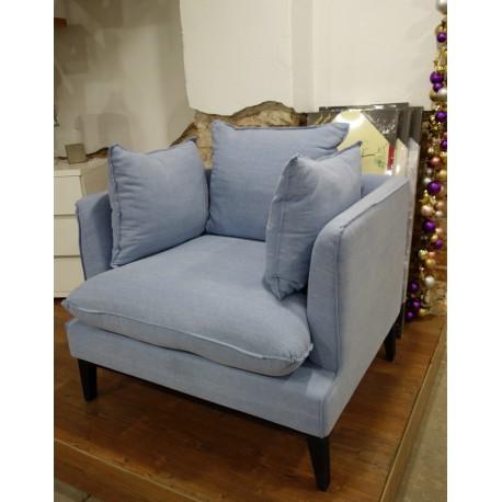 Fotel błękitny