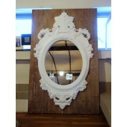Duże lustro z ramą w stylu barokowym