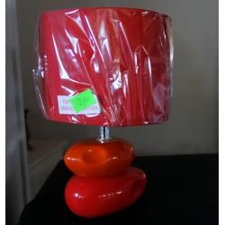 Lampa stojąca czerwono-pomarańczowa