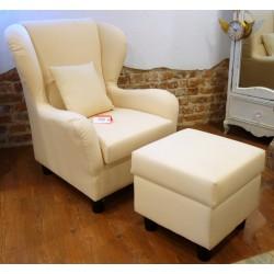 Fotel z pufą