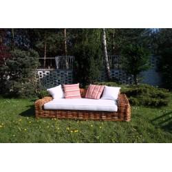 Sofa z naturalnego rattanu