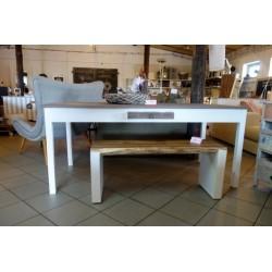 Biały stół z szufladą