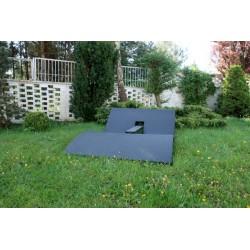 Dwuosobowy leżak ogrodowy